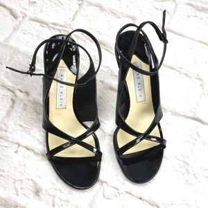 Anne Klein  Black Patent Leather  Sandals 6.5M
